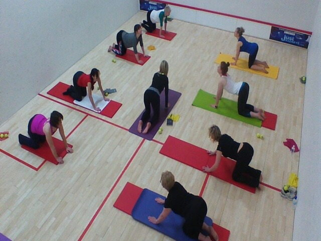 Pilates class with Jackie