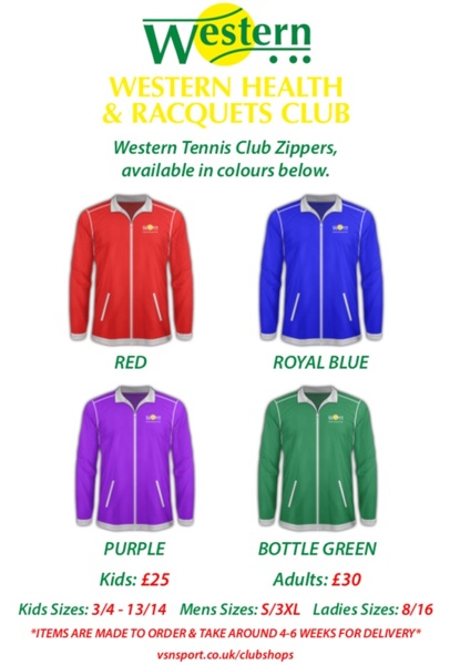 Western Tennis Club Zipper products